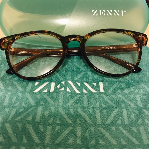 d3a3a3b4b1 Non-prescription Zenni tortoise shell round 208245